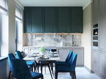 Пример интерьера кухни в 2-комнатной квартире